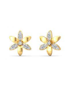 Sun Diamond Petal Earring