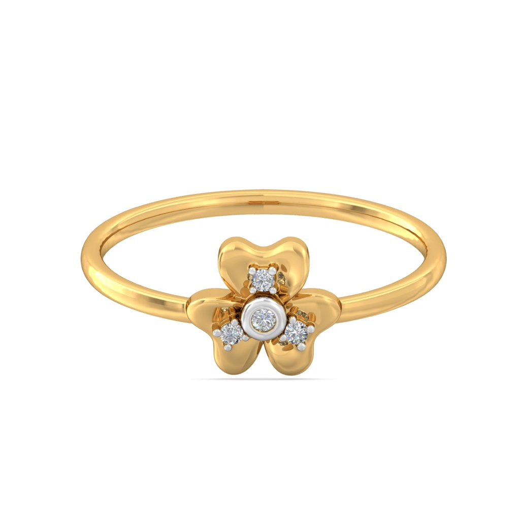 img-Petal Heart Diamond  Ring
